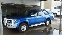 2010 Ford Ranger PK XLT Crew Cab Blue 5 Speed Manual Utility The Narrows Darwin City Preview