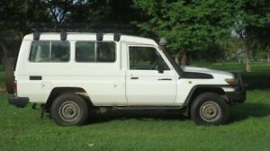 2008 Toyota Landcruiser VDJ78R Workmate Troopcarrier White 5 Speed Manual Wagon Winnellie Darwin City Preview