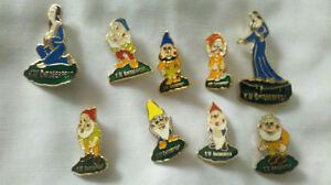 Disney snow white dwarfs & evil queen 9 pieces lapel broche