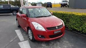2011 Suzuki Swift FZ GLX Red 4 Speed Automatic Hatchback Taylors Beach Port Stephens Area Preview