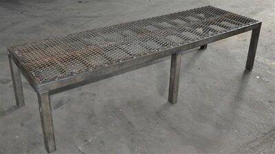 Metal Table - Shop Built Shear Drop Table 77 L X 24 W X 18 High