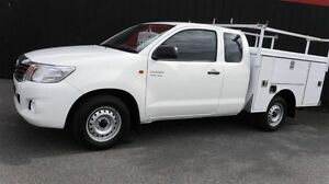 2013 Toyota Hilux GGN15R MY12 SR White 5 Speed Automatic Extracab Moorabbin Kingston Area Preview
