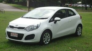 2014 Kia Rio UB MY14 S White 6 Speed Manual Hatchback Winnellie Darwin City Preview