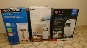 3-LIKE NEW-PORTABLE AIR CONDITIONERS-ALL 8,000 BTU