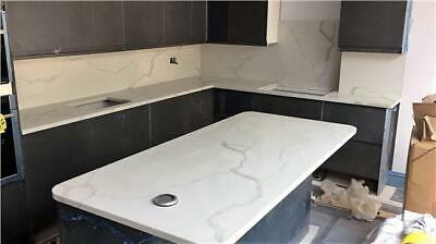 Calacatta Quartz Kitchen Worktop   3000mm x 700mm x30mm