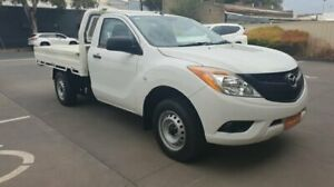 2013 Mazda BT-50 MY13 XT (4x2) White 6 Speed Manual Cab Chassis Melrose Park Mitcham Area Preview