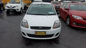 2008 Ford Fiesta WQ LX White 5 Speed Manual Hatchback Taylors Beach Port Stephens Area Preview