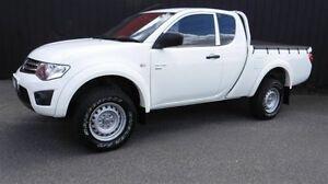 2012 Mitsubishi Triton MN MY12 GLX (4x4) White 5 Speed Manual Utility Moorabbin Kingston Area Preview