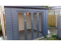 Brand new semi insulated art studio garage /storage/workshop with small garden andelectric available