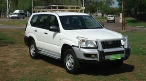 2004 Toyota Landcruiser Prado GRJ120R GX White 6 Speed Manual Wagon Winnellie Darwin City Preview