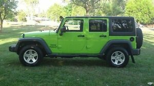 2013 Jeep Wrangler JK MY2013 Unlimited Sport Green 5 Speed Automatic Softtop Winnellie Darwin City Preview
