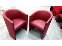 Two Stylish Armchairs Cherry Gloss | Modern Design | Great Price