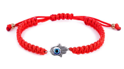Kabbalah Red String Adjustable Bracelet with Hamsa Protection Hand and Evil Eye