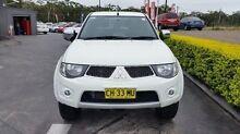 2014 Mitsubishi Triton MN MY15 GLX-R (4x4) White 5 Speed Manual 4x4 Dual Cab Utility Taylors Beach Port Stephens Area Preview