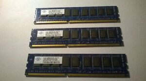 16GB and 1GB ECC DDR3 PC3-8500 1066MHz DIMM RAM For server