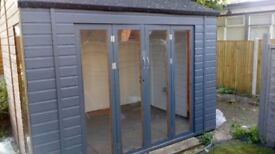 Brand new semi insulated art studio /storage/workshop with small garden and electric available.