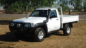 2012 Nissan Patrol GU 6 Series II ST White 5 Speed Manual Cab Chassis Winnellie Darwin City Preview