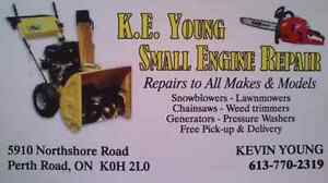 K.E. YOUNG SMALL ENGINE TUNE-UP & REPAIR (SHOP RATE $25)