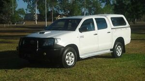 2011 Toyota Hilux KUN26R MY12 SR Double Cab White 5 Speed Manual Utility Winnellie Darwin City Preview