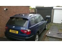 2005 BMW X3 2.5 manual x3 private plate swap for 4x4 estate or car