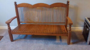Antique Solid Wood Bench