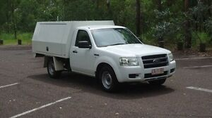 2008 Ford Ranger PJ XL White 5 Speed Manual Cab Chassis Winnellie Darwin City Preview