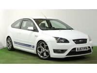 FOCUS ST 2 IN FROZEN WHITE 3 DR + JUST SERVICED AND 12 MONTHS MOT