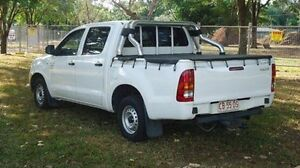 2005 Toyota Hilux TGN16R MY05 Workmate White 5 Speed Manual Utility Winnellie Darwin City Preview