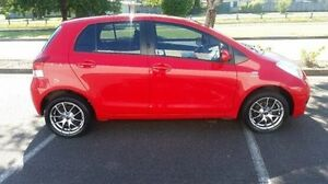 2009 Toyota Yaris NCP90R MY09 YR Red 5 Speed Manual Hatchback Bungalow Cairns City Preview