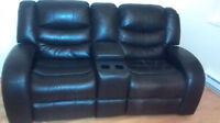 Two Seat Leather Recliners Love Seat