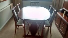 good condition g plan dining table and 6 chairs