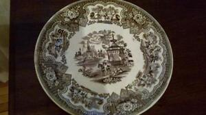 Spode dinner plate and Johnson Bros Indian Tree plate West Island Greater Montréal image 3