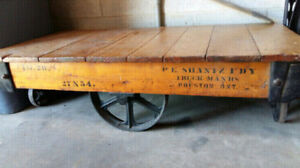 Original Antique Miners Cart Coffee Table