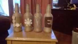 rustic bottle ornament