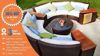 Patio Furniture - Lotus Semi-Circle Set - 40% Off + No Tax !