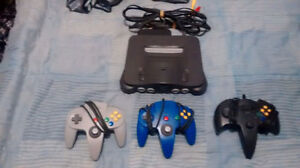 N64 with three controllers & 1 game