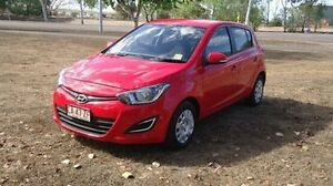2012 Hyundai i20 PB MY12 Active Red 4 Speed Automatic Hatchback Winnellie Darwin City Preview