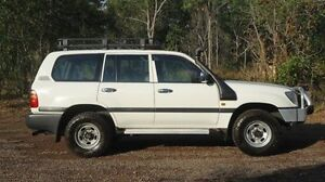 1998 Toyota Landcruiser HZJ105R GXL White 5 Speed Manual Wagon Winnellie Darwin City Preview