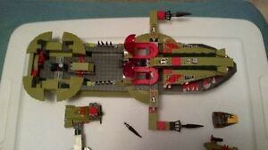 lego ship, boats, planes, motarboats as pictured