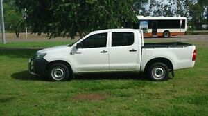 2012 Toyota Hilux TGN16R MY12 Workmate Double Cab White 4 Speed Automatic Utility Winnellie Darwin City Preview