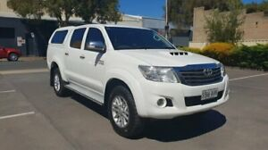 2013 Toyota Hilux KUN26R MY12 SR5 (4x4) White 5 Speed Manual Dual Cab Pick-up Melrose Park Mitcham Area Preview