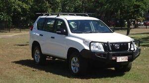 2012 Toyota Landcruiser Prado KDJ150R GX White 5 Speed Sports Automatic Wagon Winnellie Darwin City Preview