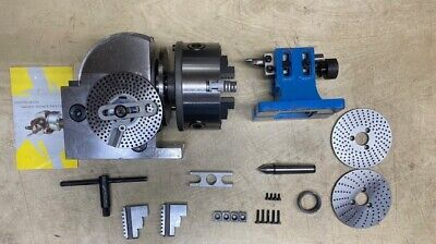 Open Box Bs-1 Dividing Head Set W 6 Chuck Tailstock For Milling Machine