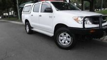 2005 Toyota Hilux GGN25R SR (4x4) White 5 Speed Manual Dual Cab Pick-up Croydon Burwood Area Preview