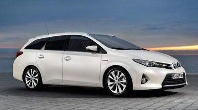 Toyota Auris ESTATE 2013 - 2015 Window Visor Deflector Window Dark Black