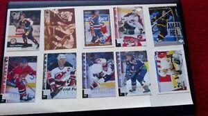 over 100 hockey cards