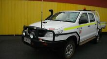2010 Toyota Hilux KUN26R MY11 Upgrade SR (4x4) White 5 Speed Manual Dual Cab Chassis Moorabbin Kingston Area Preview