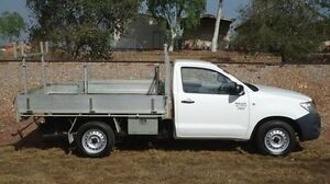 2010 Toyota Hilux TGN16R MY10 Workmate White 5 Speed Manual Cab Chassis Winnellie Darwin City Preview