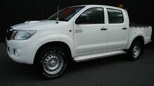 2012 Toyota Hilux KUN26R MY12 SR (4x4) White 4 Speed Automatic Dual Cab Pick-up Moorabbin Kingston Area Preview