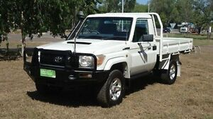 2010 Toyota Landcruiser VDJ79R MY10 GX White 5 Speed Manual Cab Chassis Winnellie Darwin City Preview